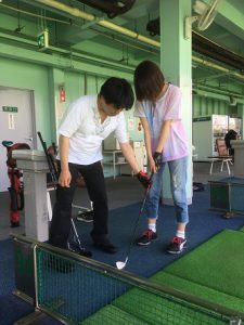 夏のゴルフ練習会